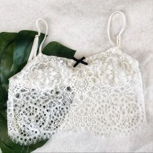For Love & Lemons White Lace Bralette Size S EUC